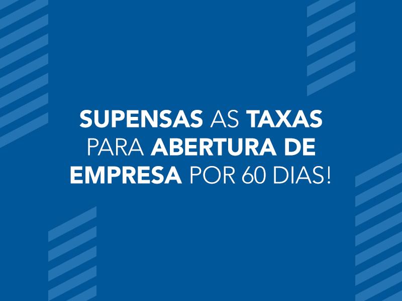 Governo de SP vai isentar taxa de abertura de empresas